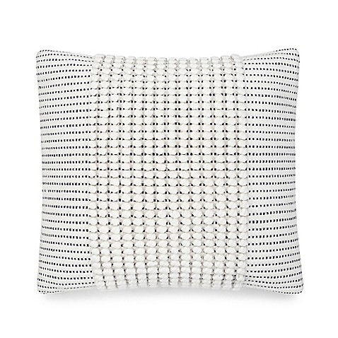 image of UGG® Oceanside 20-Inch Square Throw Pillow in Snow/Navy