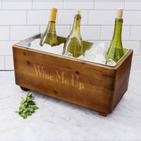 Cathy's Concepts Wood Wine Trough