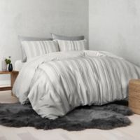 UGG® Nomad Tencel® Lyocell Striped Reversible King Duvet Cover in Grey