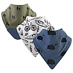 Yoga Sprout 3-Pack Adventure Bandana Bib With Teether in Green