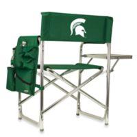Picnic Time® Michigan State Green Collegiate Folding Sports Chair