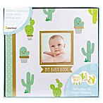 Pearhead® Cactus Baby Memory Book and Sticker Set in Green/Gold