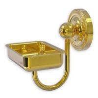 Allied Brass Prestige Regal Wall Mounted Soap Dish in Polished Brass