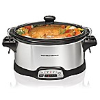Hamilton Beach® Stay or Go 6 qt. Programmable Slow Cooker in Silver