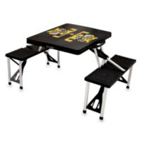 Picnic Time® Louisiana State University iCollegiate Foldable Table with Seats in Black
