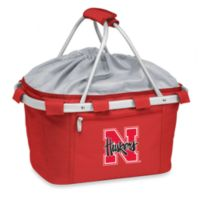 Picnic Time® University of Nebraska Collegiate Metro Basket in Red