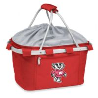 Picnic Time® University of Wisconsin Collegiate Metro Basket in Red