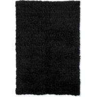 Linon Home Décor Products Flokati 1400 gram 2'4 x 4'3 Accent Rug in Black