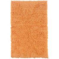 Linon Home Décor Products Flokati 1400 gram 2'4 x 4'3 Accent Rug in Pumpkin