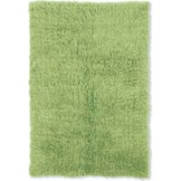 Linon Home Décor Products Flokati 1400 gram 2'4 x 4'3 Accent Rug in Lime Green