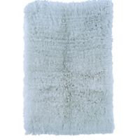 Linon Home Décor Products Flokati 1400 gram 2'4 x 4'3 Accent Rug in Pastel Blue