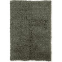 Linon Home Décor Products Flokati 1400 gram 2'4 x 4'3 Accent Rug in Olive