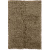 Linon Home Décor Products Flokati 1400 gram 2'4 x 4'3 Accent Rug in Mushroom
