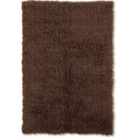 Linon Home Décor Products Flokati 1400 gram 2'4 x 4'3 Accent Rug in Cocoa
