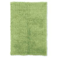 Linon Home Décor Products Flokati 1400 gram 5' x 8' Area Rug in Lime Green