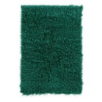 Linon Home Décor Products Flokati 1400 gram 5' x 8' Area Rug in Emerald