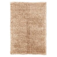 Linon Home Décor Products Flokati 1400 gram 5' x 8' Area Rug in Tan
