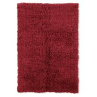 Linon Home Décor Products Flokati 1400 gram 5' x 8' Area Rug in Red