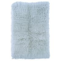 Linon Home Décor Products Flokati 1400 gram 5' x 8' Area Rug in Pastel Blue