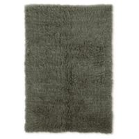 Linon Home Décor Products Flokati 1400 gram 5' x 8' Area Rug in Olive