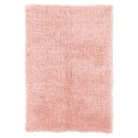 Linon Home Décor Products Flokati 1400 gram 5' x 8' Area Rug in Pastel Pink