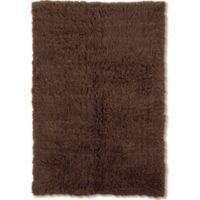Linon Home Décor Products Flokati 1400 gram 8' x 10' Area Rug in Cocoa