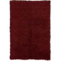 Linon Home Décor Products Super Flokati 2000 gram 6' x 9' Area Rug in Burgundy