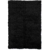 Linon Home Décor Products Super Flokati 2000 gram 6' x 9' Area Rug in Black