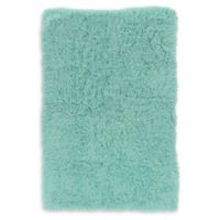 Linon Home Décor Products Flokati 1400 gram 5' x 8' Area Rug in Mint