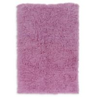 Linon Home Décor Products Flokati 1400 gram 5' x 8' Area Rug in Lilac