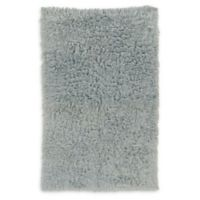 Linon Home Décor Products Flokati 1400 gram 5' x 8' Area Rug in Light Grey