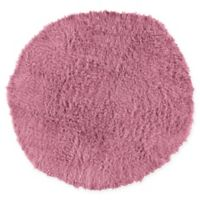 Linon Home Décor Products Flokati 1400 gram 8' Round Area Rug in Lilac