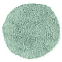 Linon Home Décor Products Flokati 1400 gram 8' Round Area Rug in Mint