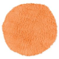Linon Home Décor Products Flokati 1400 gram 8' Round Area Rug in Sherbet