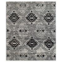 "ECARPETGALLERY Gallery Sari Silk 8'1"" x 9'6"" Area Rug in Black/Cream"