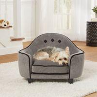 Enchanted Home Headboard Pet Sofa Bed In Diamond Grey