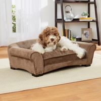 Enchanted Home Harper Arch Pet Sofa Bed in Brown
