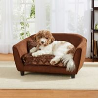 Enchanted Home Astro Pet Sofa Bed in Embossed Brown