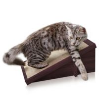 Way Basics Inclined Cat Scratching Pad in Espresso