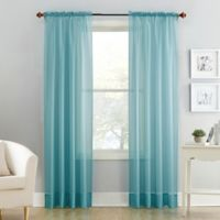 Voile Sheer Rod Pocket Window Curtain Panel