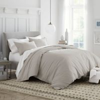 Under The Canopy Organic Cotton Twin Duvet Cover Set in Drizzle