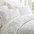 Vine Full/Queen Duvet Cover Set in Grey