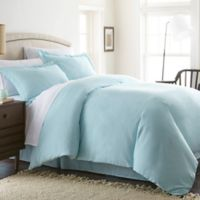 Solid King Duvet Cover Set in Aqua