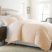 Solid Twin Duvet Cover Set in Ivory