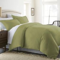 Solid Twin Duvet Cover Set in Sage