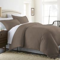 Solid King Duvet Cover Set in Taupe