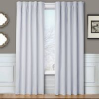 Blackout 84-Inch Window Curtain Panel Pair with Hardware in Silver