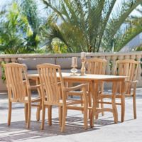 Hiteak Furniture 5-Piece Pacifica Outdoor Dining Set in Teak