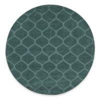 Chandra Rugs Mystica Hand-Tufted 8' Round Area Rug in Teal