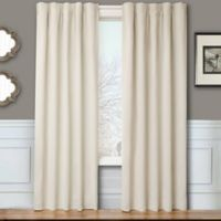 Blackout 84-Inch Window Curtain Panel Pair with Hardware in Natural